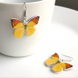 Jewelry - NEW Acrylic Yellow Butterfly Earrings